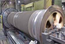 Large Lathe Cabledrum Repair